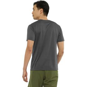 Salomon Agile Graphic Kurzarm T-Shirt Herren black/ebony/heather